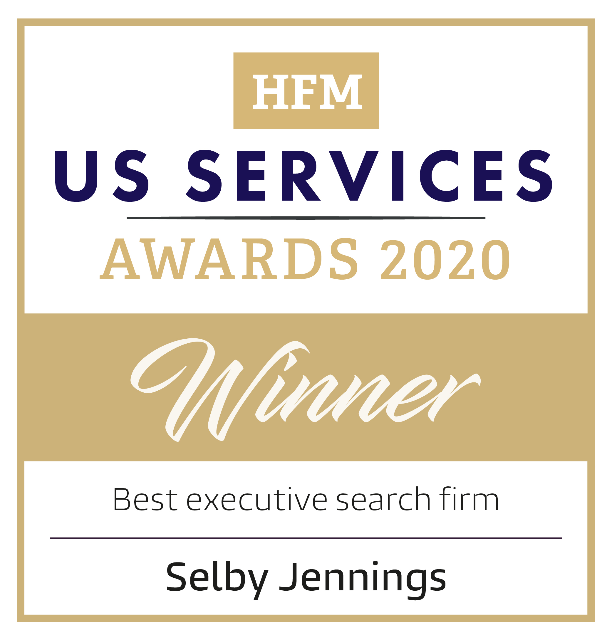 HFM US Services Awards 2020: Best Executive Search Firm